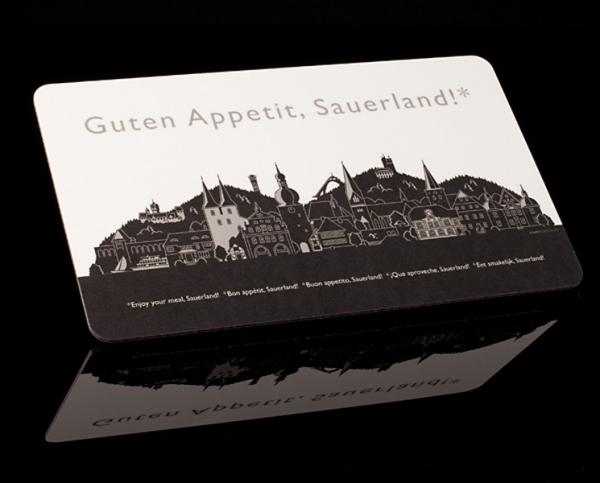 Sauerland – Brettchen schwarz/weiß