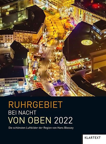 Ruhrgebiet bei Nacht von oben 2022