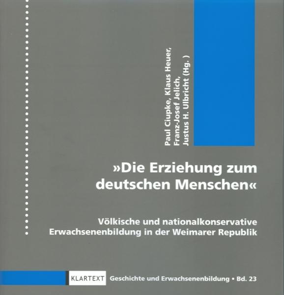 Die Erziehung zum deutschen Menschen