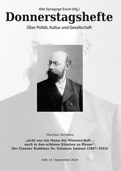 """""""nicht nur ein Mann der Wissenschaft … auch in den schönen Künsten zu Hause"""": Der Essener Rabbiner D"""