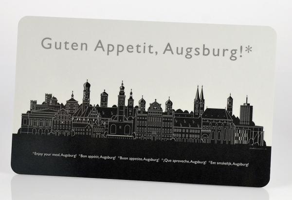 Augsburg – Brettchen schwarz/weiß