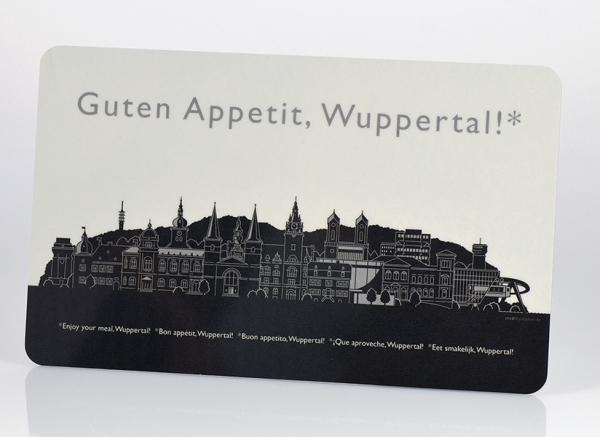 Wuppertal – Brettchen schwarz/weiß