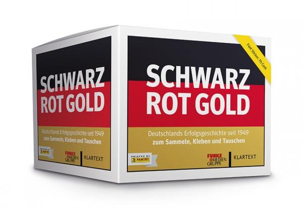 Schwarz Rot Gold – Stickerbox mit 50 Tüten