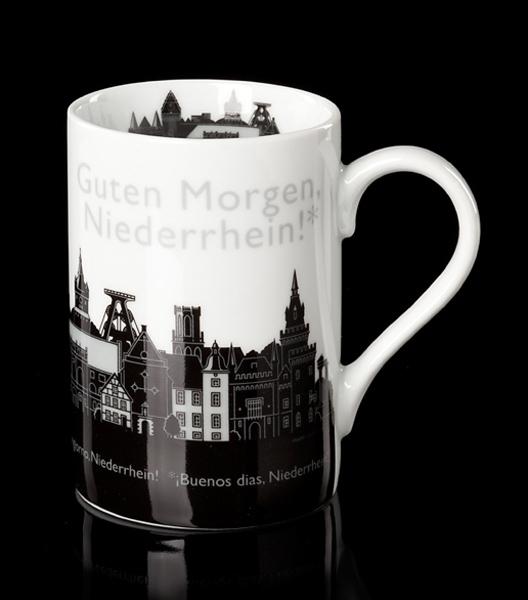 Niederrhein – Becher schwarz/weiß