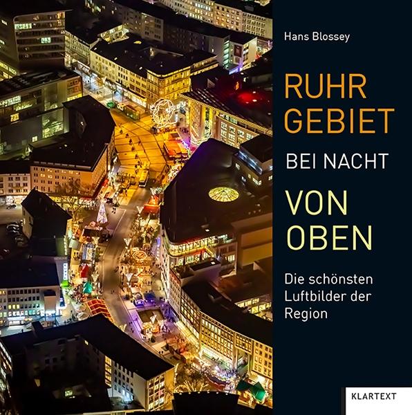 Ruhrgebiet bei Nacht von oben
